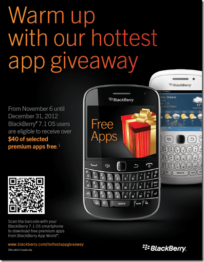 Free Apps for BlackBerry owners - Only in Canada