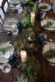 Decoração da mesa de Natal