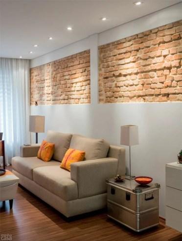 Sala de estar com iluminação direcional