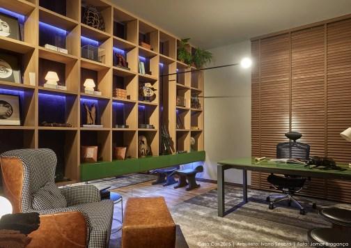 Home Office com persianas de madeira da Criativa Persianas | Projeto: Ivana Seabra para a Casa Cor Minas 2015