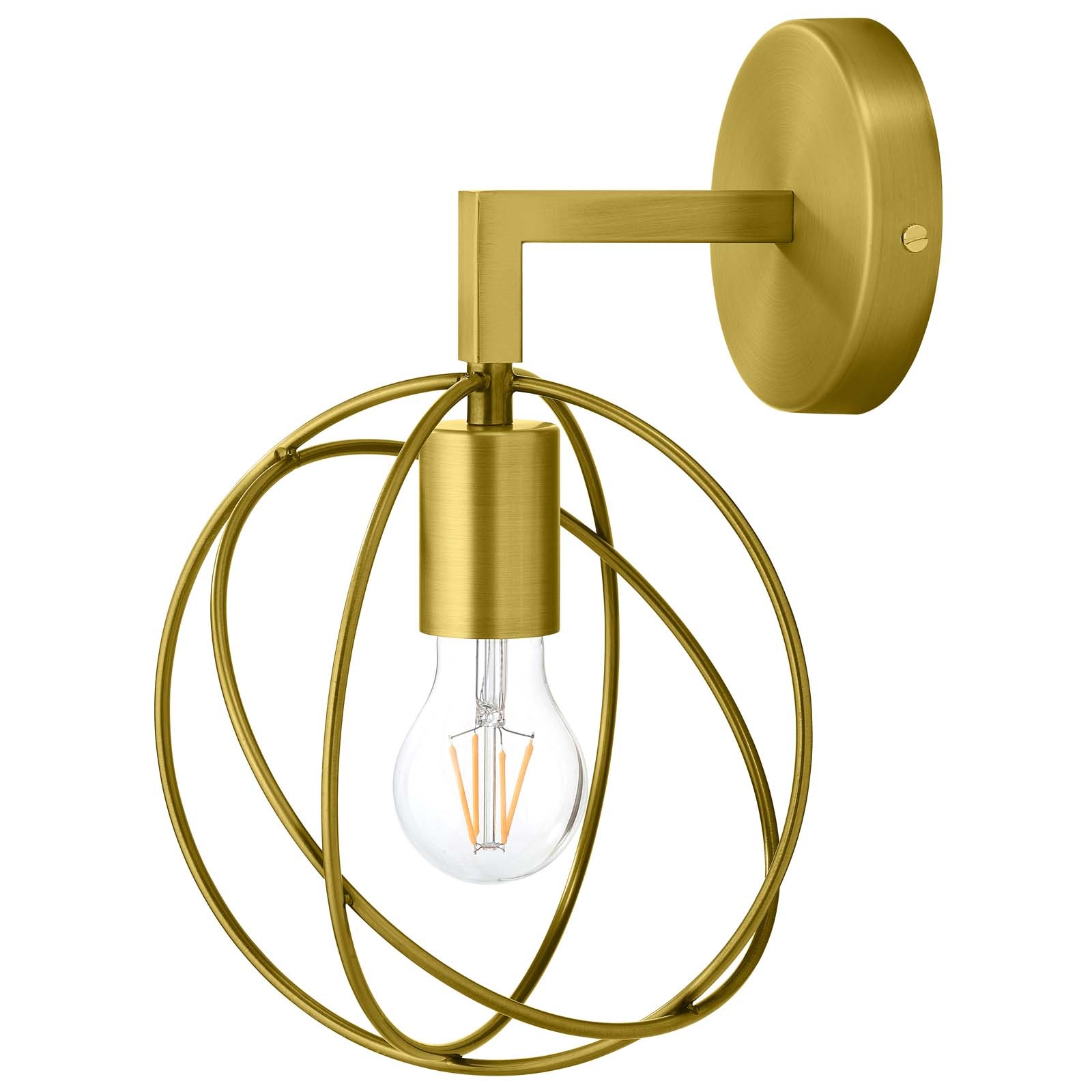 Perimeter Brass Wall Sconce Light Fixture on Brass Wall Sconces Non Electric Lighting id=55372
