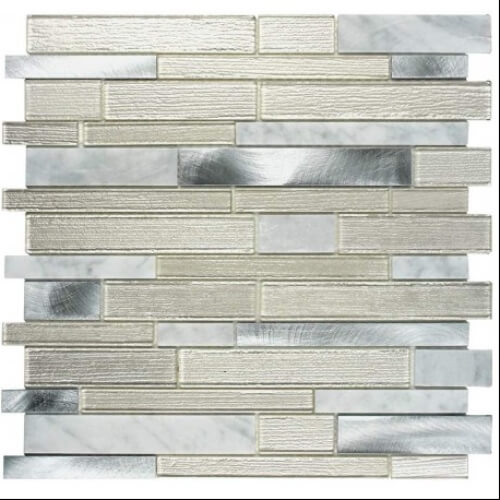 mosaic silver glass tile home tiles