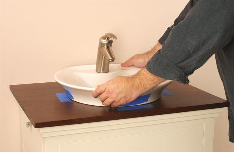 Install An Above Counter Sink