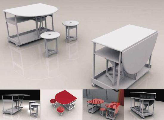 mobile dining set