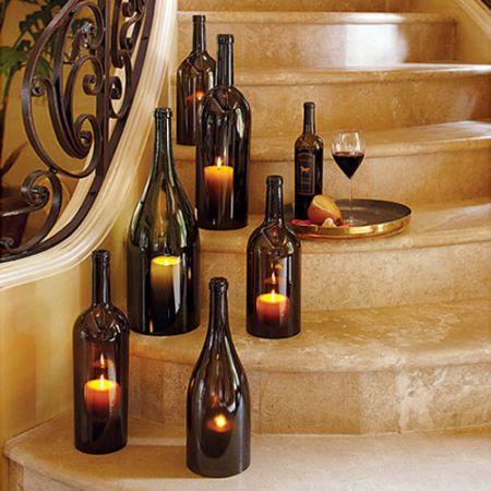 wine bottle hurricane candle holders 1