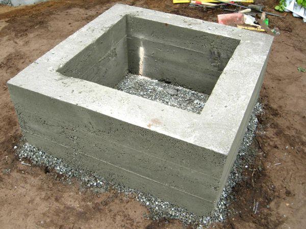 DIY concrete fire pit