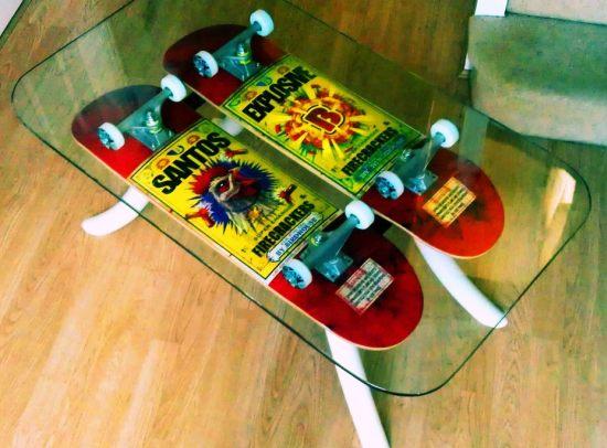 funky skateboard coffee tables - hometone