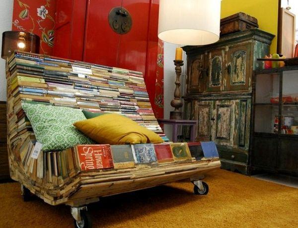 Book recliner chair