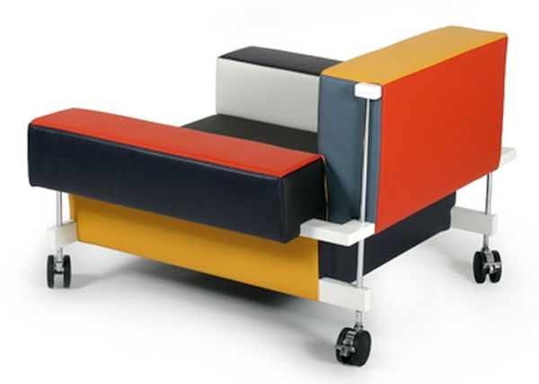 Multicolored Armchair by Peter and Alison Smithson
