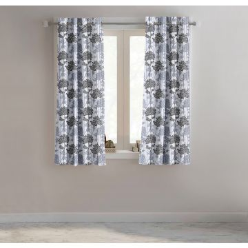 floral polyester window curtain in multicolor colour by easy life