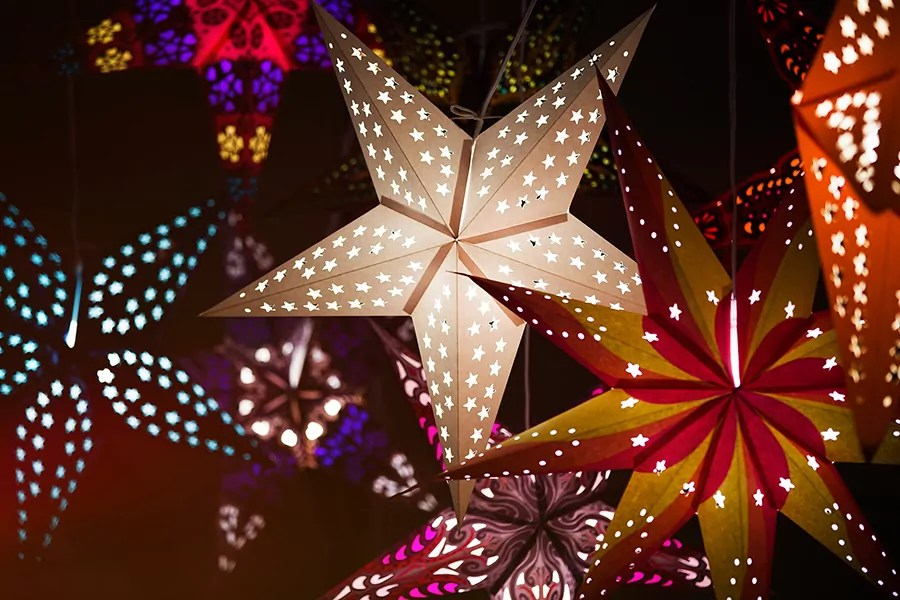 Shine Bright with Star Lights – Paper Star Lanterns