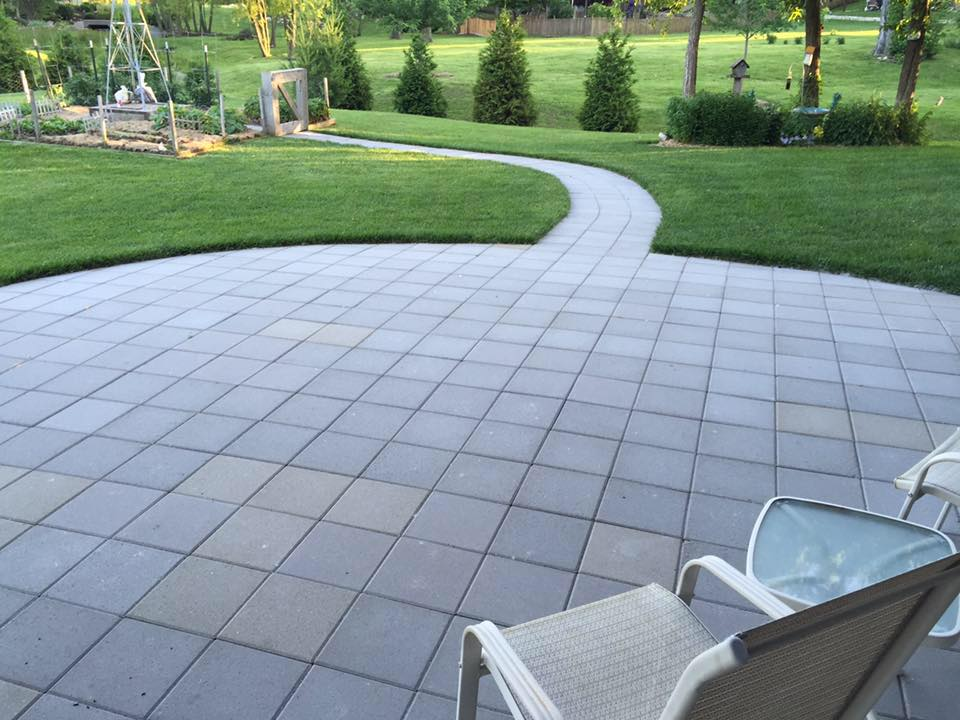 basic square paver patio - Hometown Lawn, LLC on Square Patio Designs  id=41997