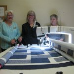 Updating traditional form of quilting with a long-arm