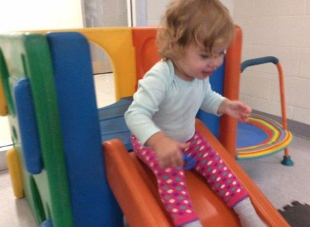 Sloane on slide.