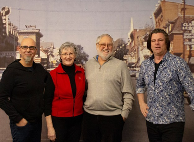 Joe Lopes, Jean and Dave Sherman and Gordon Weiske