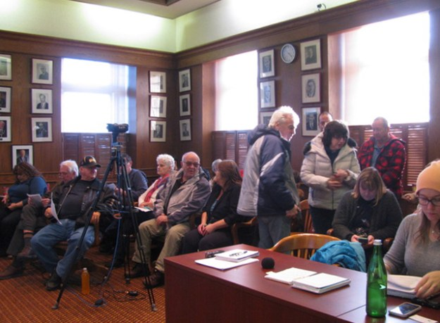 Council chambers were packed waiting for a discussion