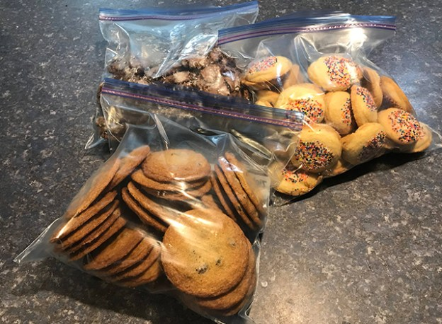 A peek at some of the variety of cookies