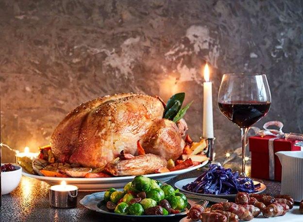 Bordeaux with Stuffed Christmas Turkey