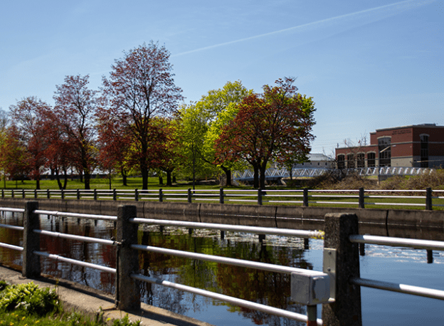 Rideau Canal where the Victoria Park campground
