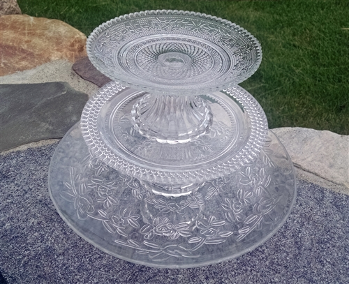 Glass Cake Plates Stacking Cake Plates Park Hill
