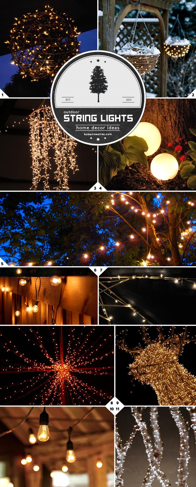 Home Decor Ideas: Creative Ways of Using String Lights ... on Backyard String Light Designs id=51057