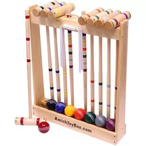 Amish-Crafted Deluxe Croquet Set