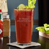 Engraved Bloody Mary Glass
