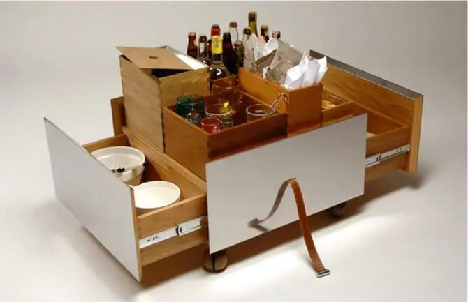 Wooden Bar Carts
