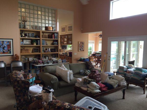 julie laundry room living room piles