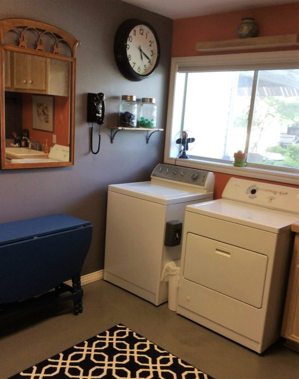 julie laundry room with rug