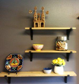 julie laundry room with shelf decor