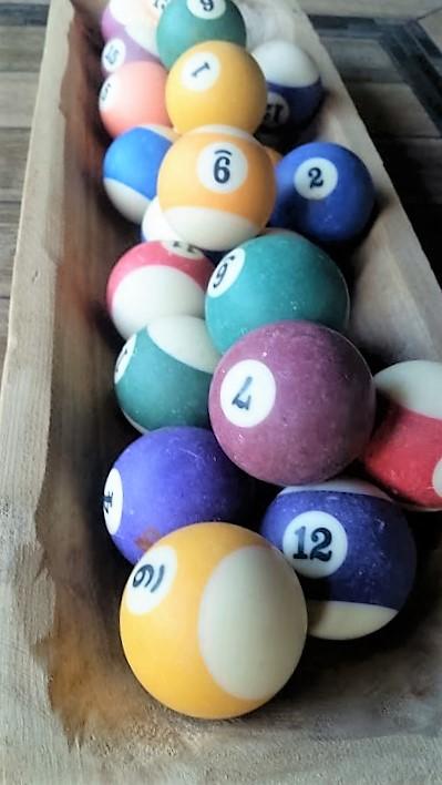 close up of balls
