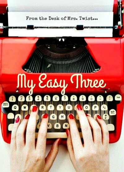 My Easy Three:  In the Kitchen
