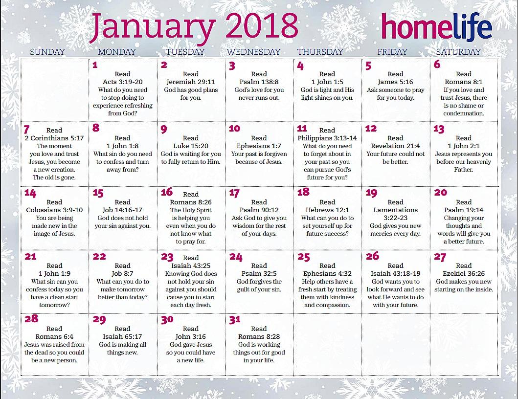 Home Life Family January 2018 Printable