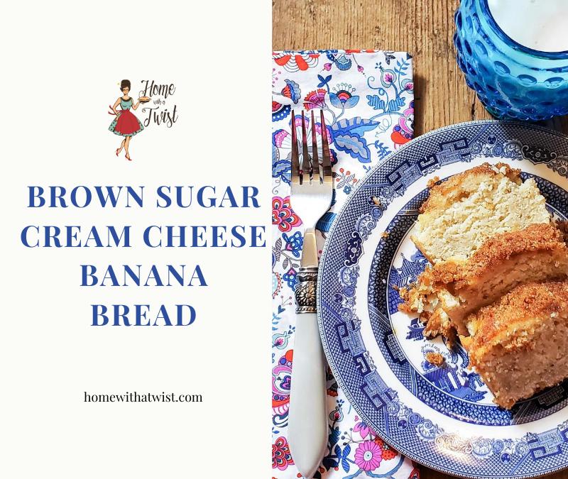 Brown Sugar Cream Cheese Banana Bread