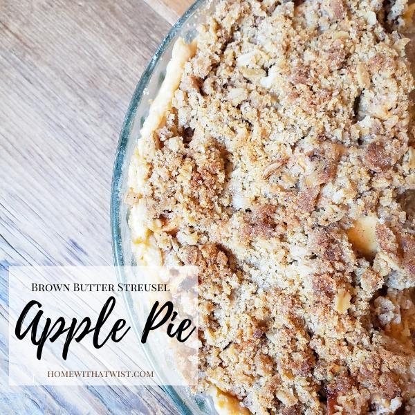 Brown Butter Streusel Apple Pie