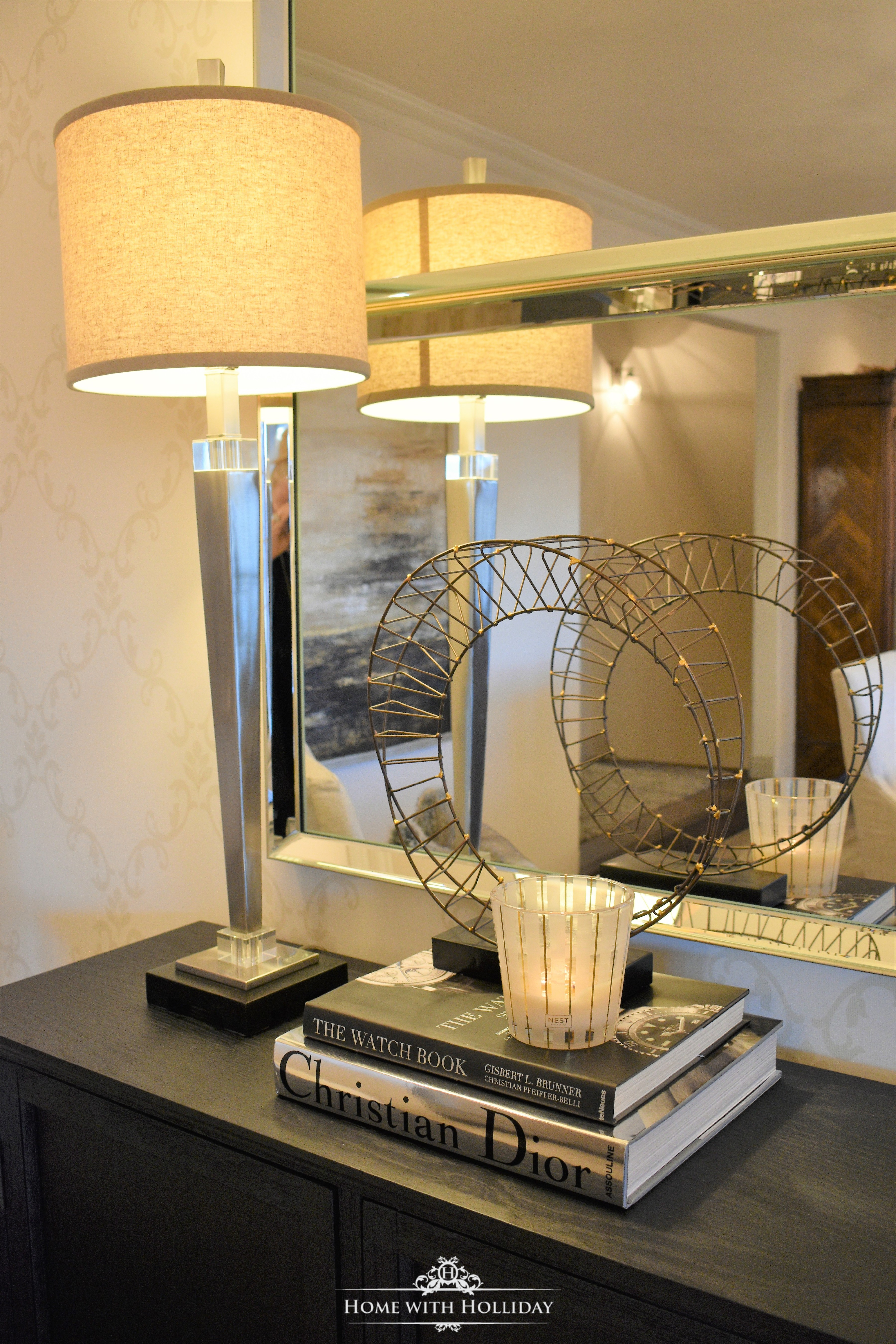 Decorating a Buffet with Coffee Table Books