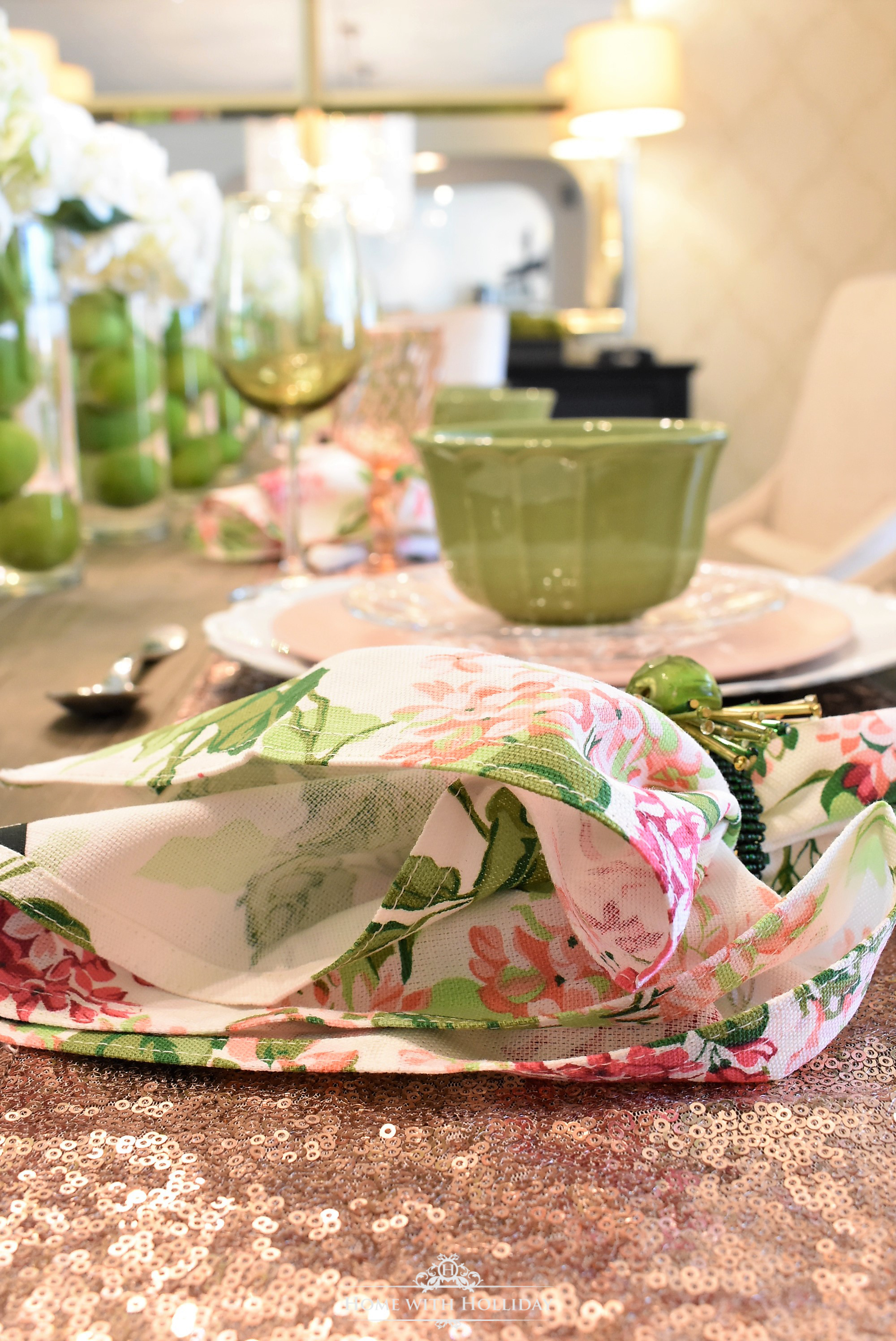 Spring Table Setting for Mother\'s Day Luncheon - Home with Holliday
