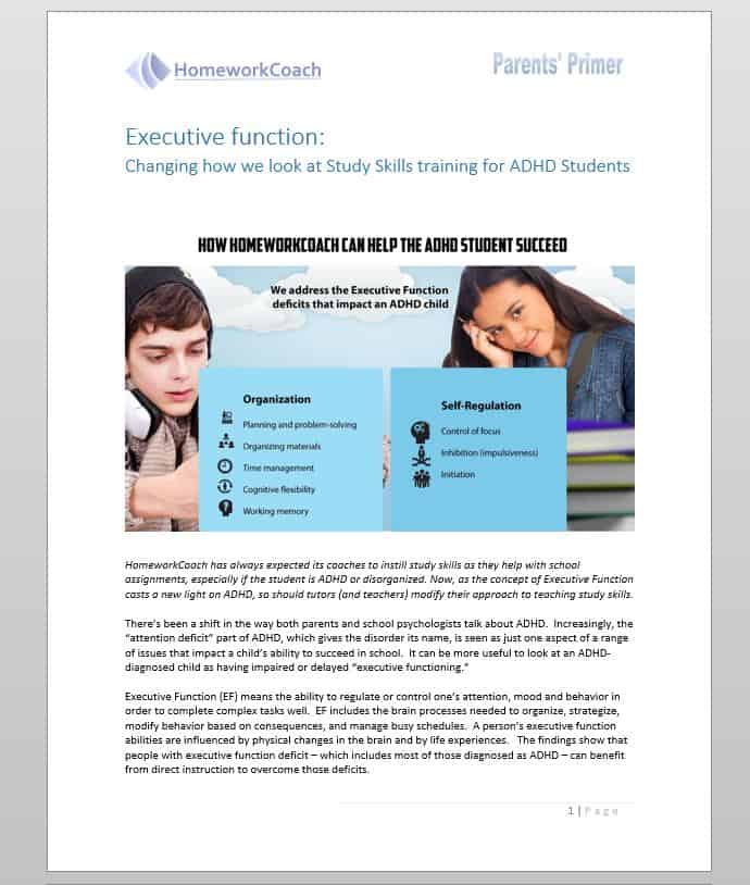 ADHD and Executive Function