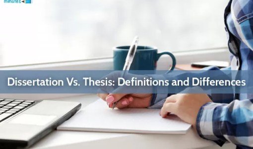 Dissertation Vs. Thesis