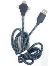 Geeko 3 in 1 Multiport USB Data and Charge Cable-Micro USB