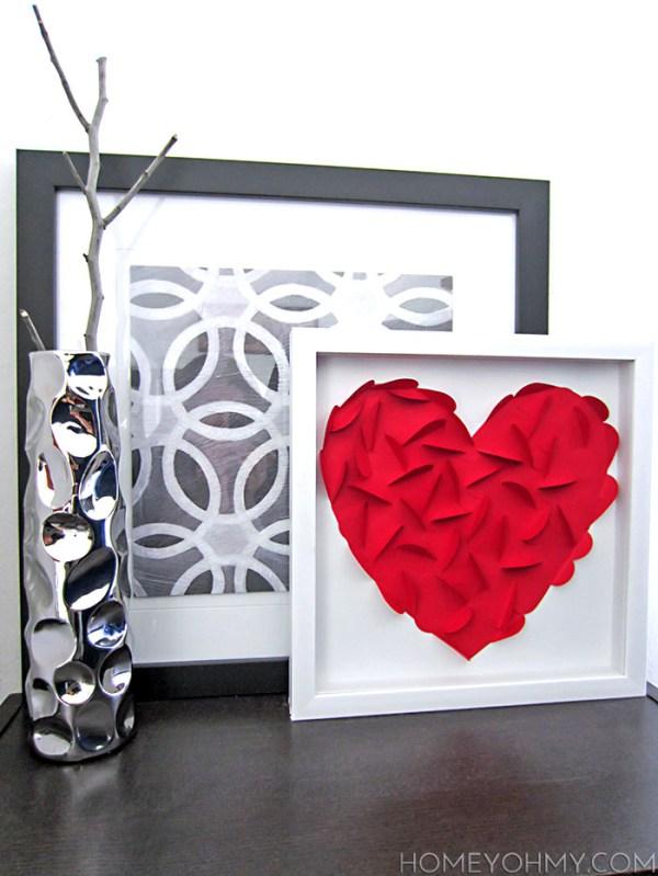 DIY Heart Wall Art - Homey Oh My
