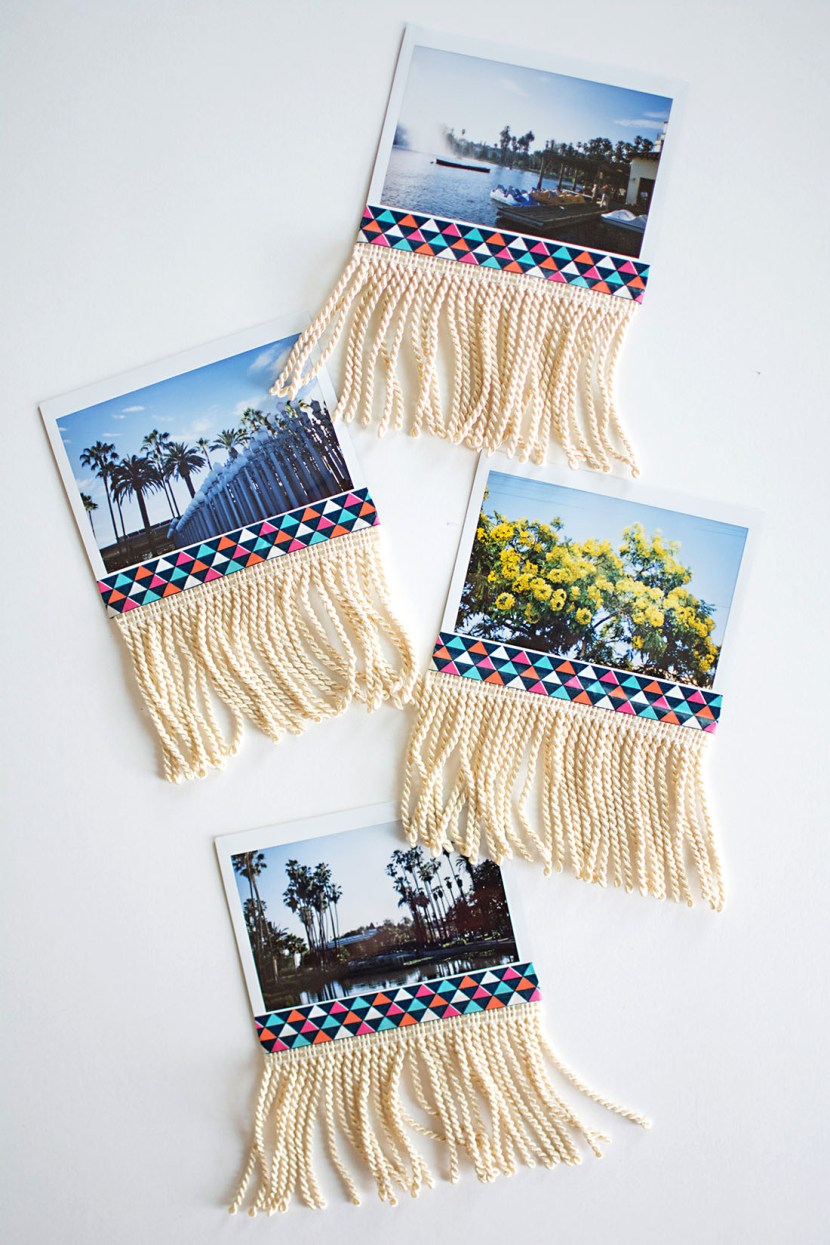 travel craft ideas diy fringe photo garland pottery barn 3136