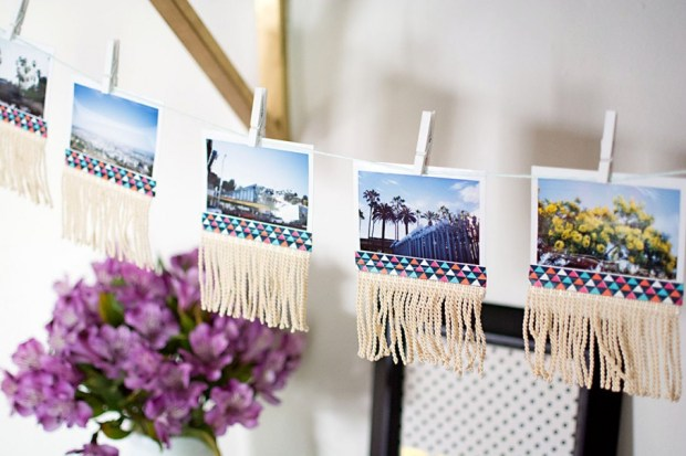 Photo Wall Art Picture Garland with Jute String and Mini Pins DIY Fringe