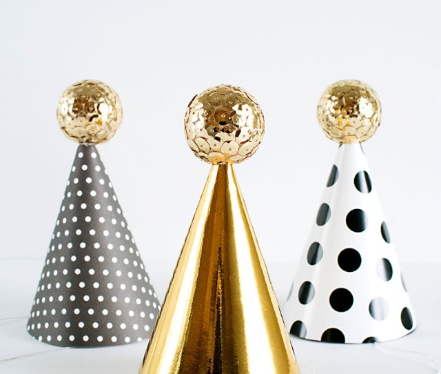 Diy Mini Party Hats For New Years Eve