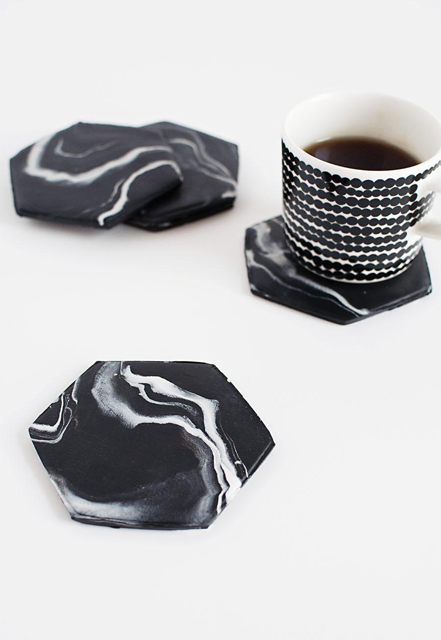 Dessous de tasse marbre