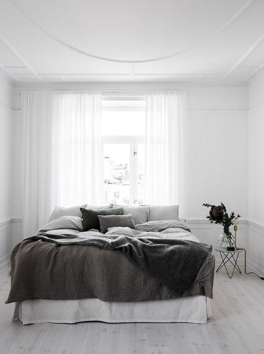 Minimal Bedrooms (Again) - Homey Oh My on Neutral Minimalist Bedroom Ideas  id=76832
