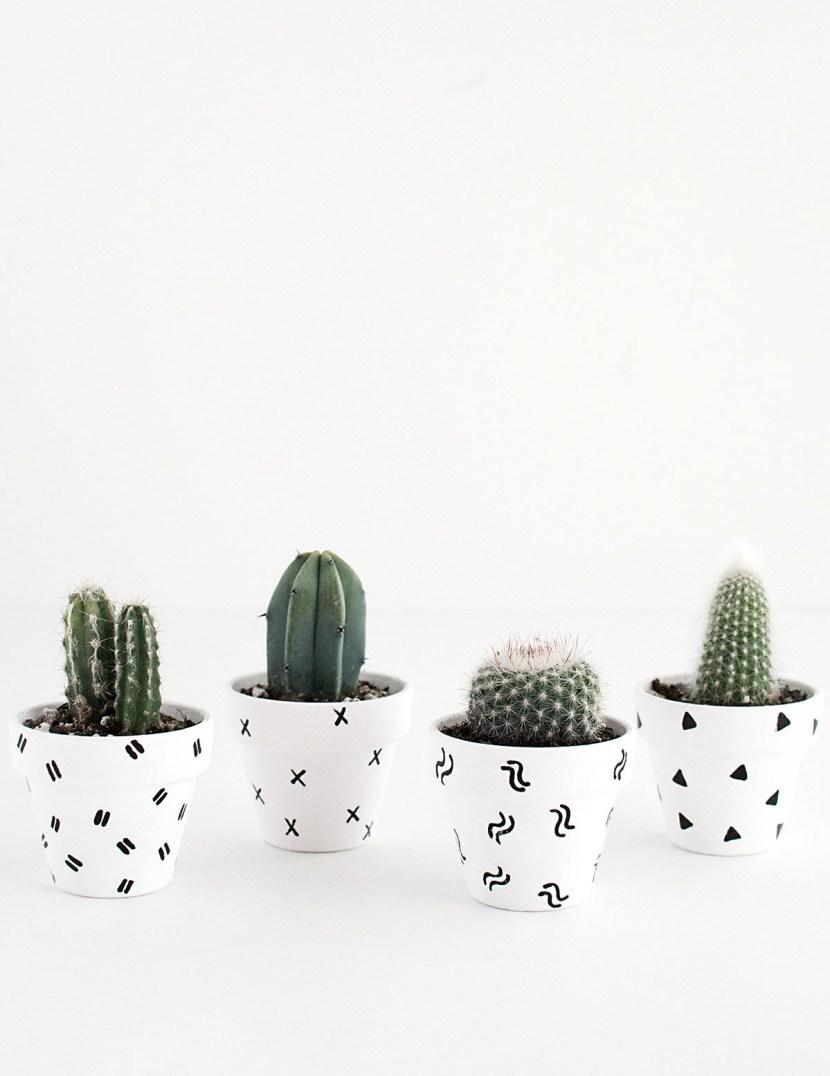 DIY- Mini Patterned Plant Pots-2