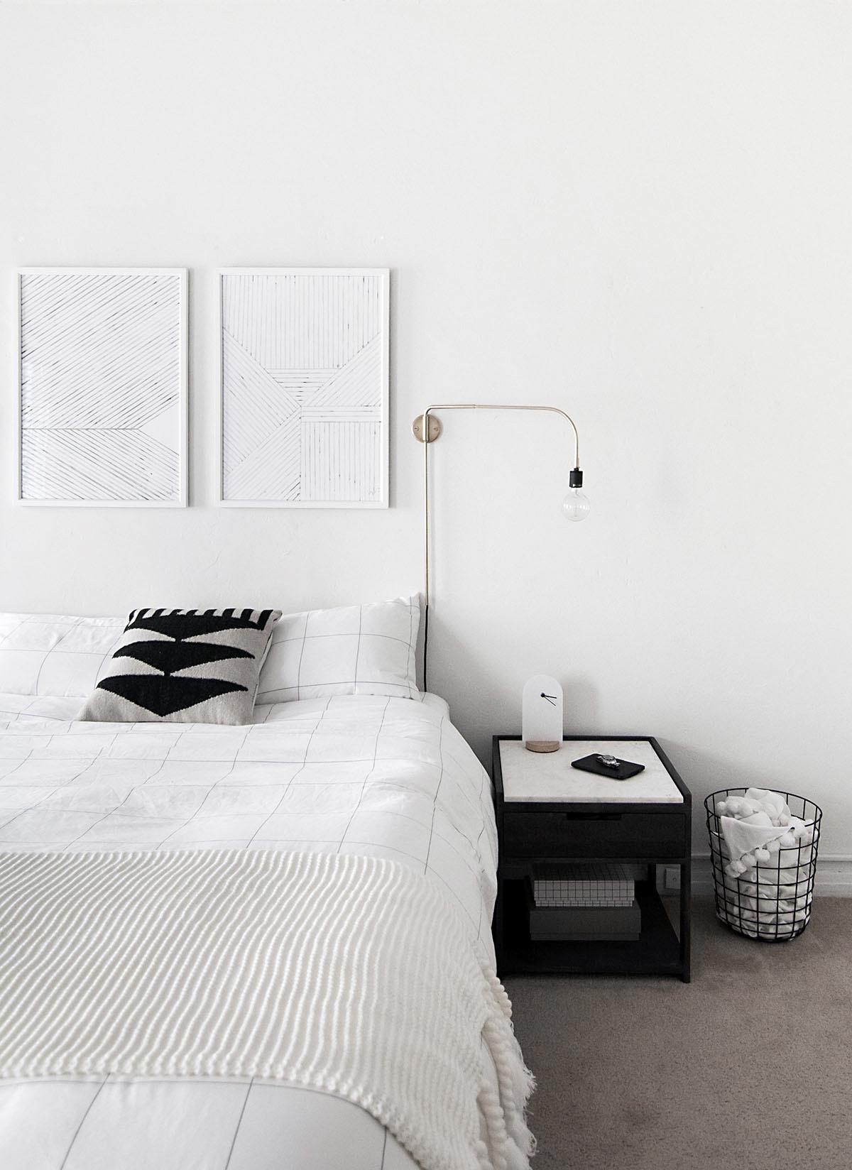 How to Achieve a Minimal Scandinavian Bedroom - Homey Oh My on Minimalist Bedroom  id=46847