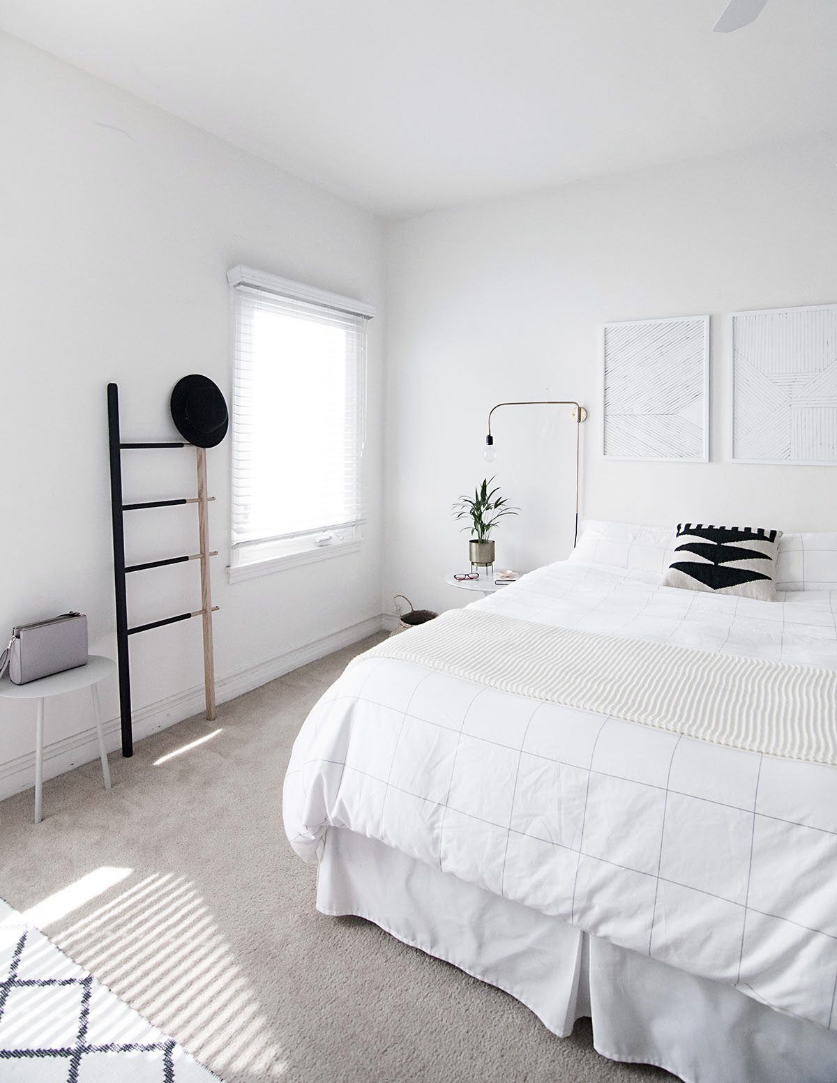 How to Achieve a Minimal Scandinavian Bedroom - Homey Oh My on Minimalist Bedroom Ideas  id=45183